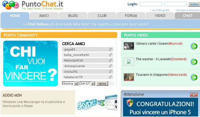 chat italiana gratis il migliori siti porno
